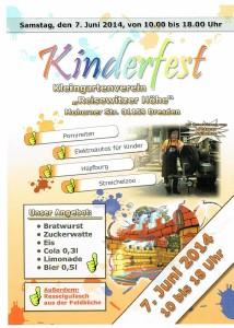 Plakat Kinderfest 2014